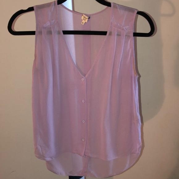 Wilfred Tops - ARITZIA Button Up silk tank top